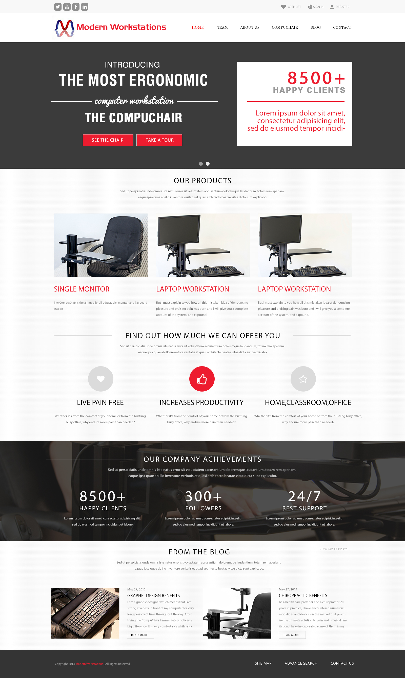 Diseño Web ModernWork Stations