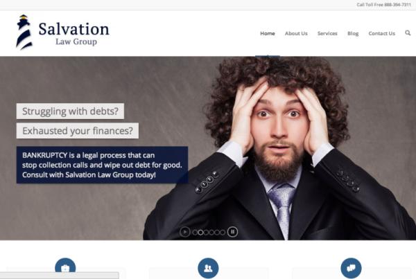 pantallazo de diseño web