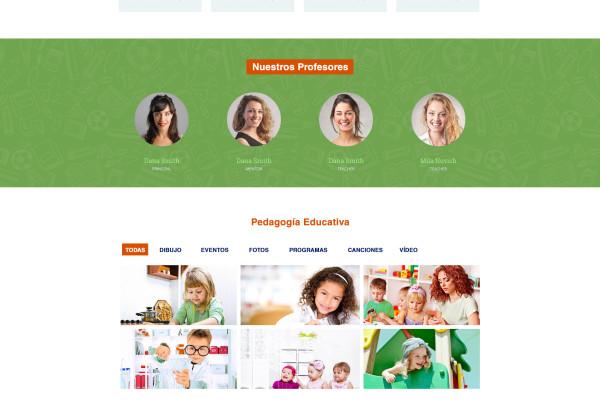 Diseño Web escuela de idiomas